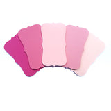 "Rose Pink Ombre Color Note Cards / Place Cards - size (2"" x 3.5"") - Set of 50"