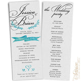 "Wedding Programs 4.25"" x 11"""