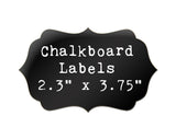 "Chalkboard labels 2.3"" by 3.75"" bracket shape vinyl stickers - 12pk"