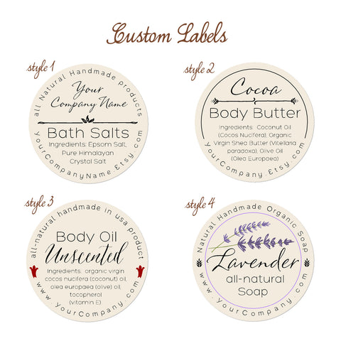 Pre-designed Personalized Labels 60-pk