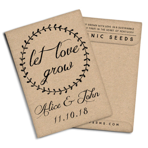 "Seed Packets Wedding Favors ""Let Love Grow"""