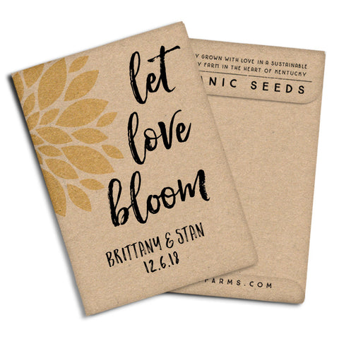 "Seed Packets Wedding Favors ""Let Love Bloom"""