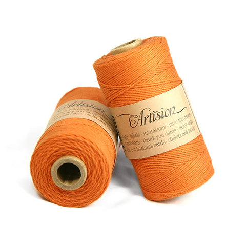 Summer Orange Bakers Twine 4 ply made in USA
