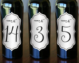 "Bottle Table Number Labels - 2.5"" x 5"""