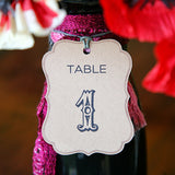 Table Numbers Hang Tags
