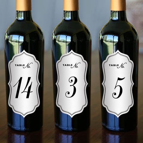 "Table Number Labels - 2.5"" x 5"""