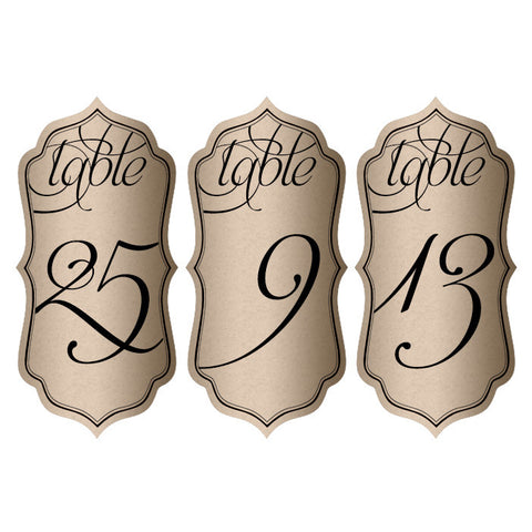 "Wholesale Wedding Table Numbers 2.5"" x 5"""