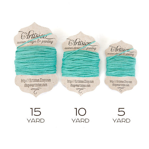 Teal Cotton Bakers Twine 4 Ply Made in USA