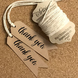 Thank You Gift Tags 12-pk