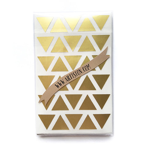 Gold Triangle Geometric Stickers