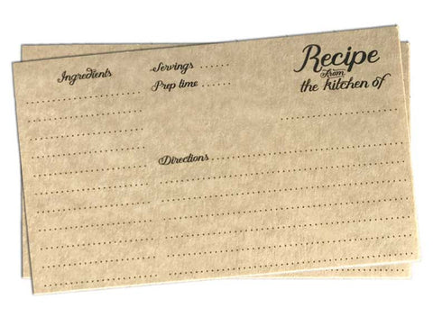 Vintage Recipe Cards Printable 3x5