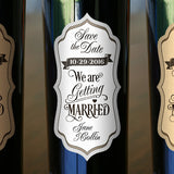 "We Are Getting Married Labels 2.5"" x 5"" 24-pack"