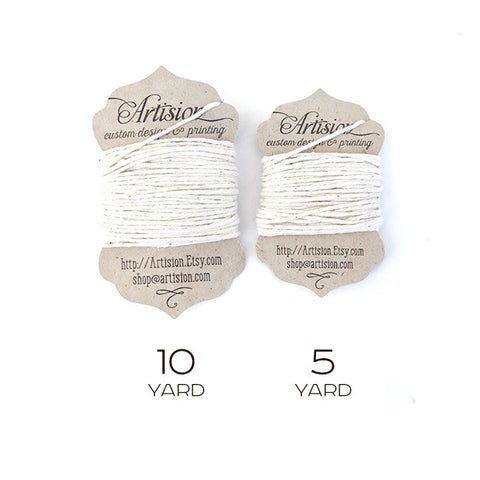 White Cotton Twine 8 ply made in USA