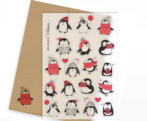 Christmas Penguins Stickers