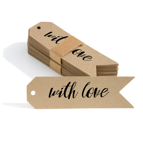 """With Love"" Gift Tags and Labels 12-pk"
