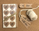 """With Love"" gift tags and labels set"
