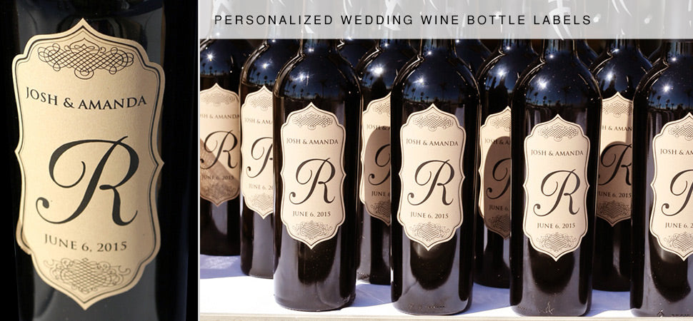 Wedding Wine Bottle Labels