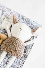 Load image into Gallery viewer, Close up of stuffed sheep toy in Bebé gift box.