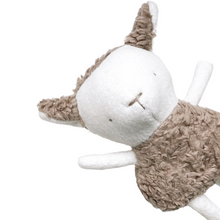 Load image into Gallery viewer, Handmade bunny stuffy made with natural fabrics in a minimalist style and hand-stitched facial features. Made in Canada.