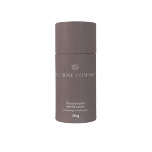 Shop our dry shampoo in fully compostable packaging from The Rose Company. Vanilla cocoa in 40g