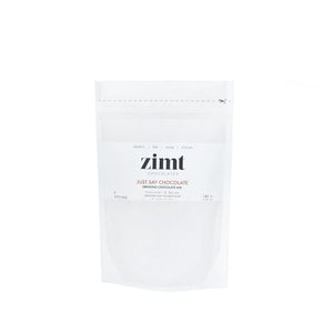 180g bag of organic, vegan, raw drinking chocolate by Zimt chocolates. Available at Lex & Lennon Gifts.