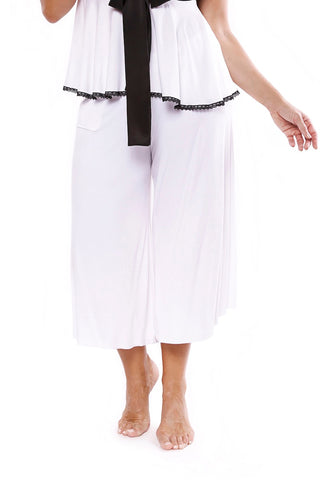 Chill Out Culotte Ice White
