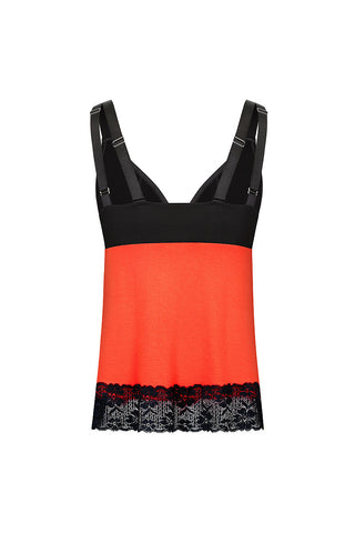 Straight-laced A-line Top L'Orange