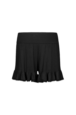 Frilling Me Softly Shorts Black Ink