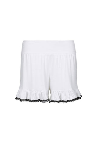 Frilling Me Softly Shorts Ice White