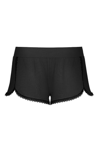 Lingerie On Shorts Black Ink