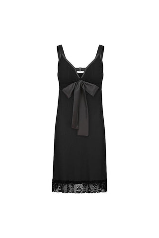 Straight-laced A-line Night Dress Black Ink