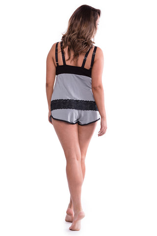 Farrah Sportie Shorts Smoke Grey