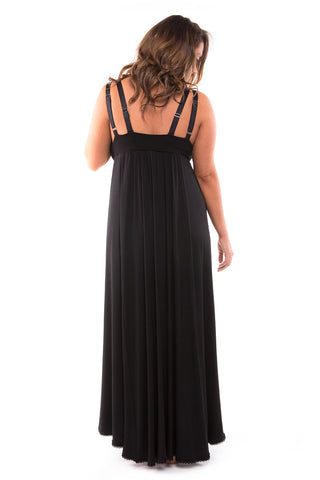 Nerida Night Dress Black Ink