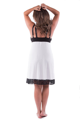 Straight-Laced Night Dress Ice White