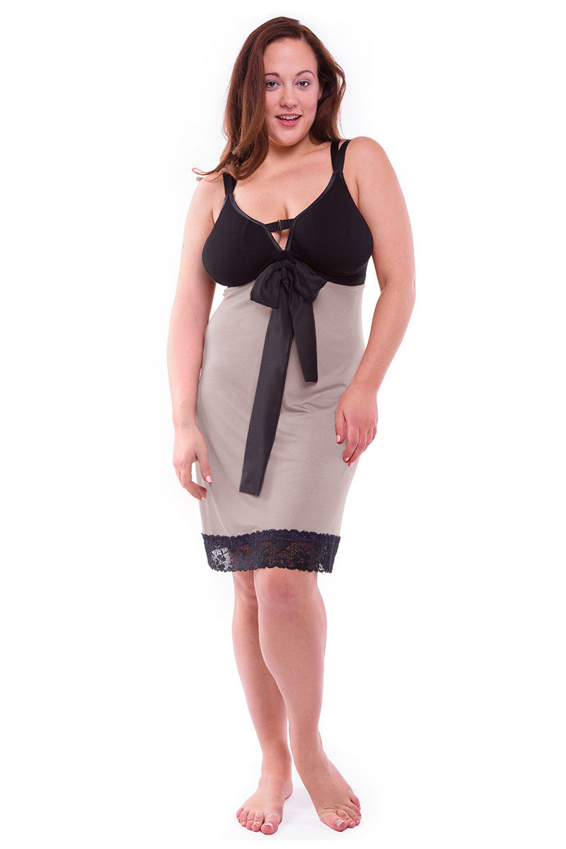MY_CUP_RUNNETH_OVERStraight-laced A-line Night Dress Oyster