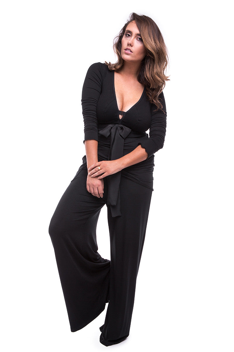 MY_CUP_RUNNETH_OVERChill Out Wide Leg Pant Black