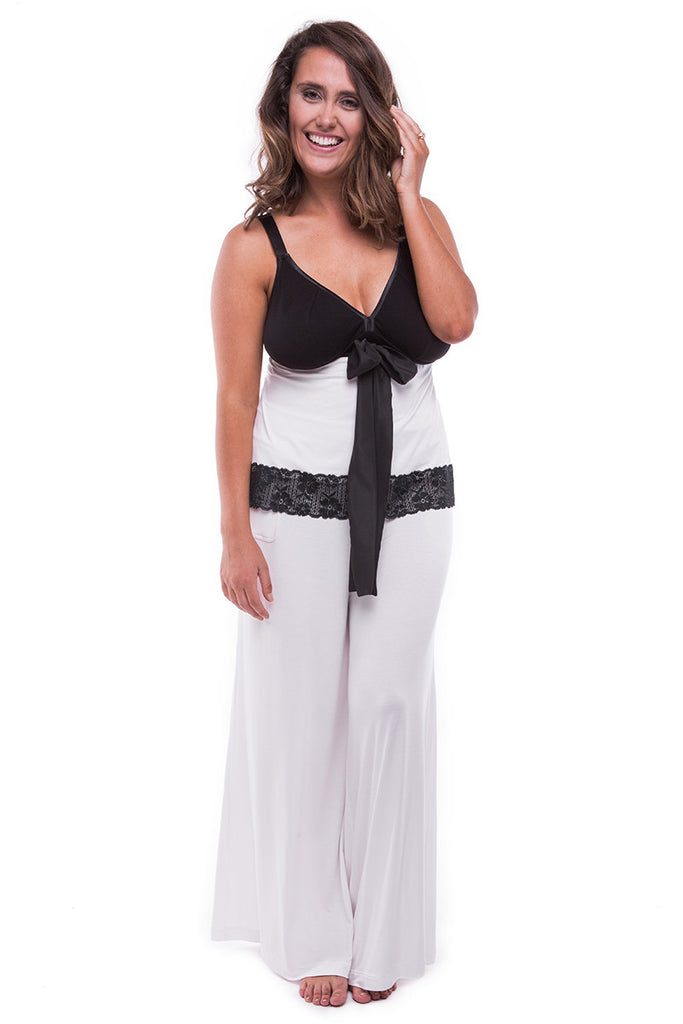 Chill Out Wide Leg Pant Ice White