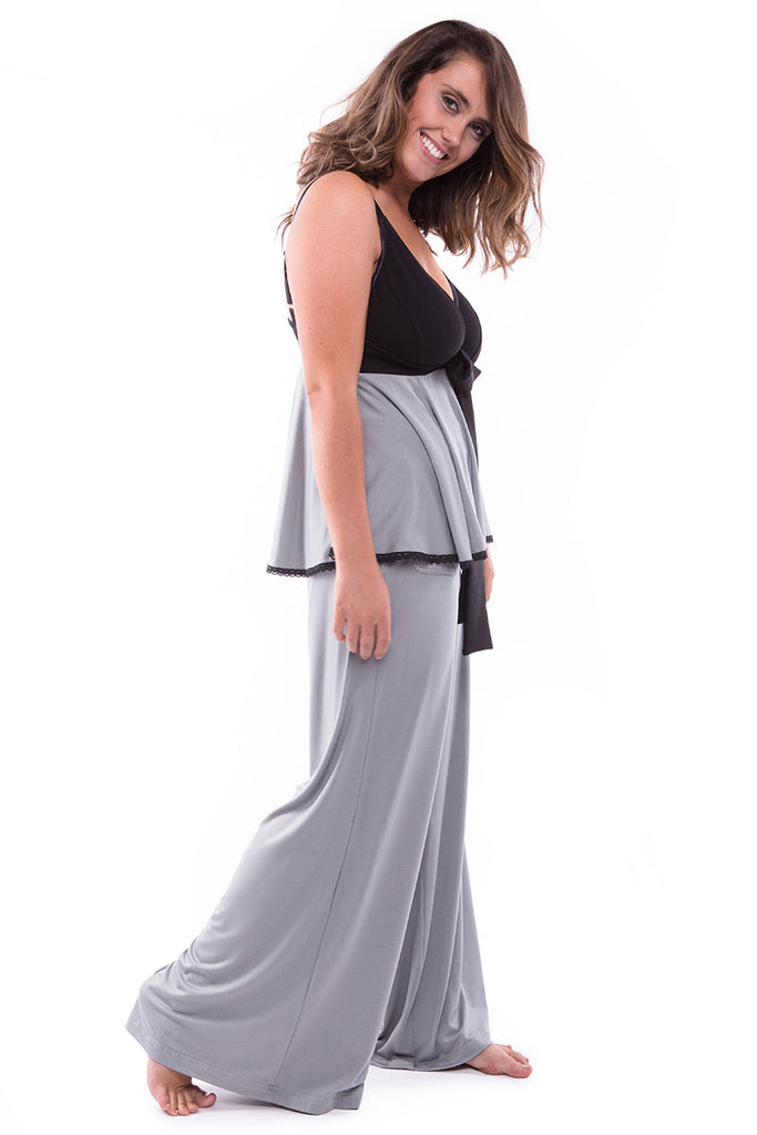 Chill Out Wide Leg Pant Smoke