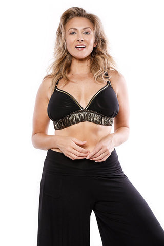 Bombshell Bralette - Limited Edition Black & Gold
