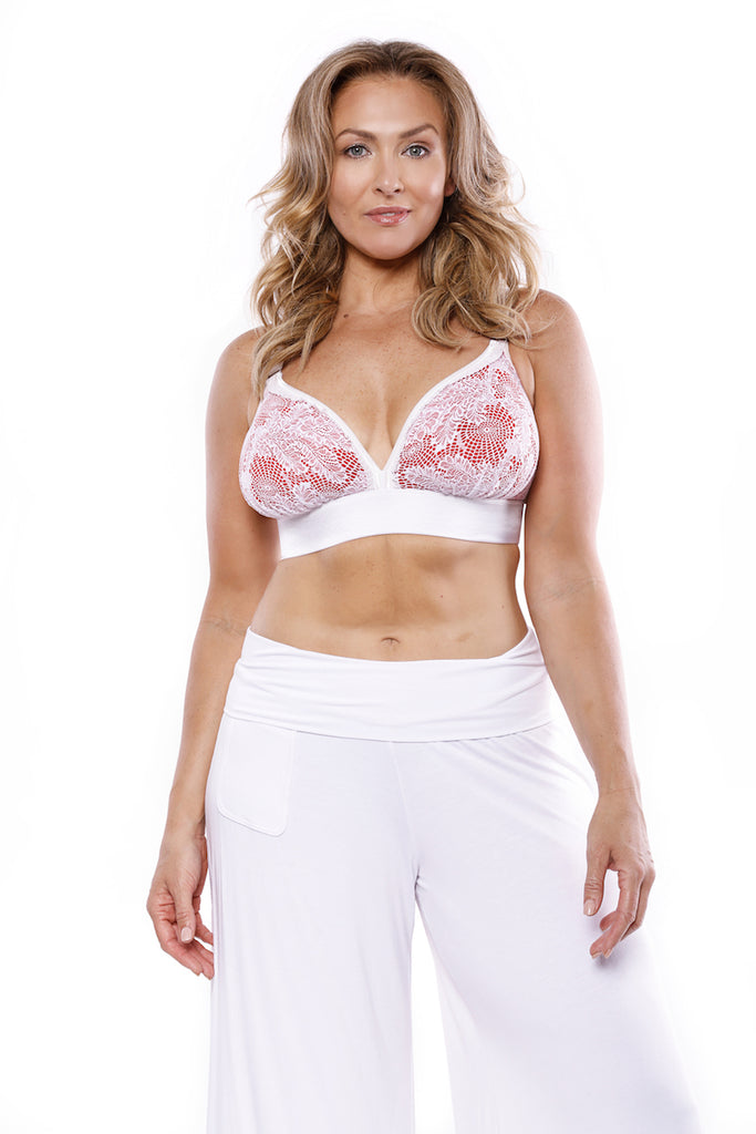 Va-Voom Bralette White/Red