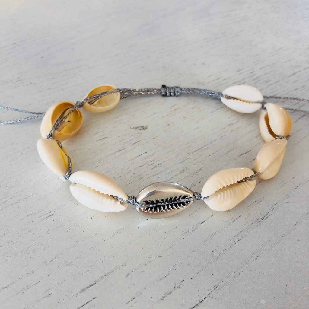 Silver Star Shell anklet