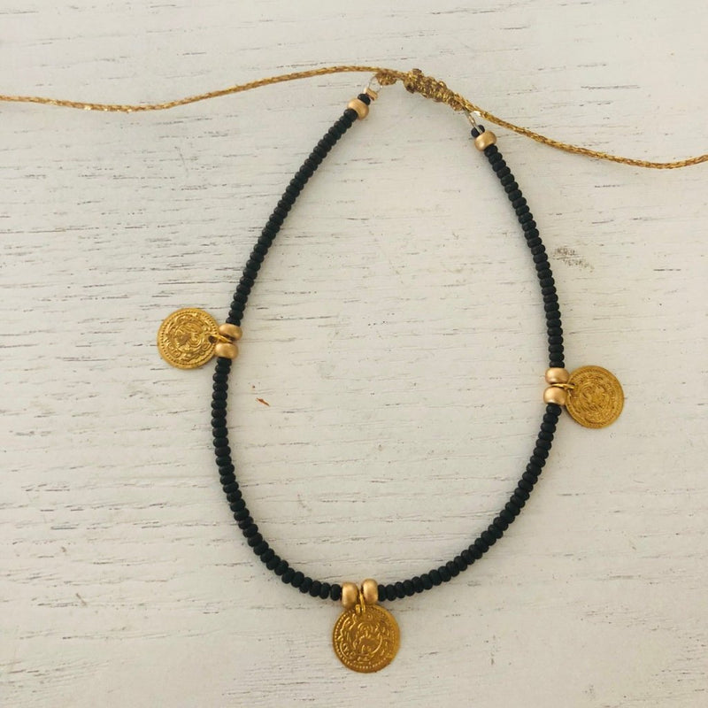 Black Coin anklet
