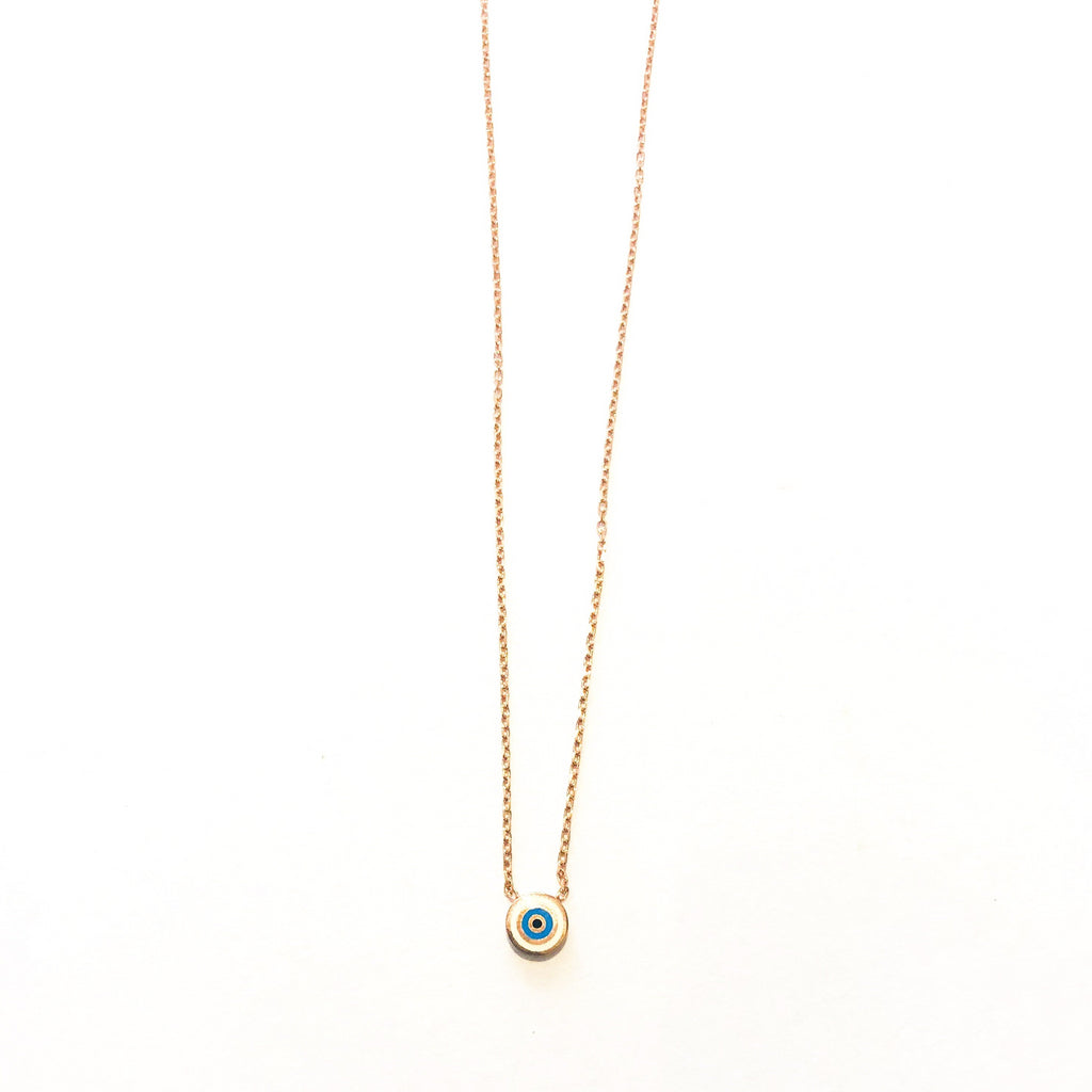 Small Mati Rose Gold Necklace