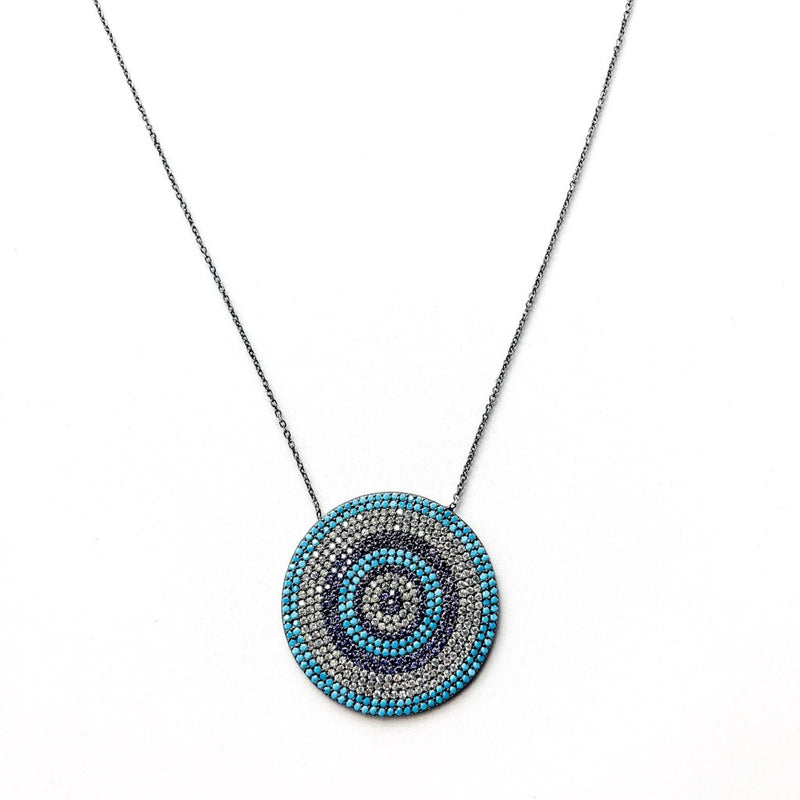 Large Turquoise Eye Necklace