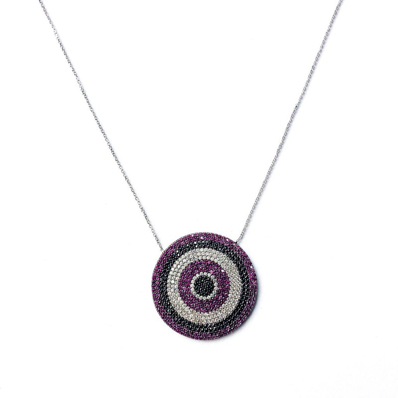 Large Purple Eye Necklace