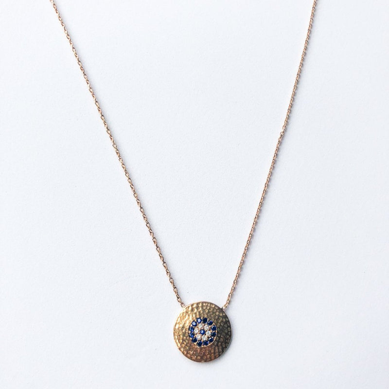 Round Eye Rose Gold Necklace