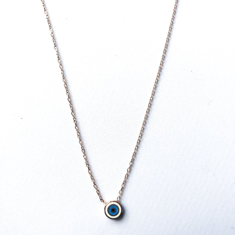 Small Eye Necklace - Rose Gold