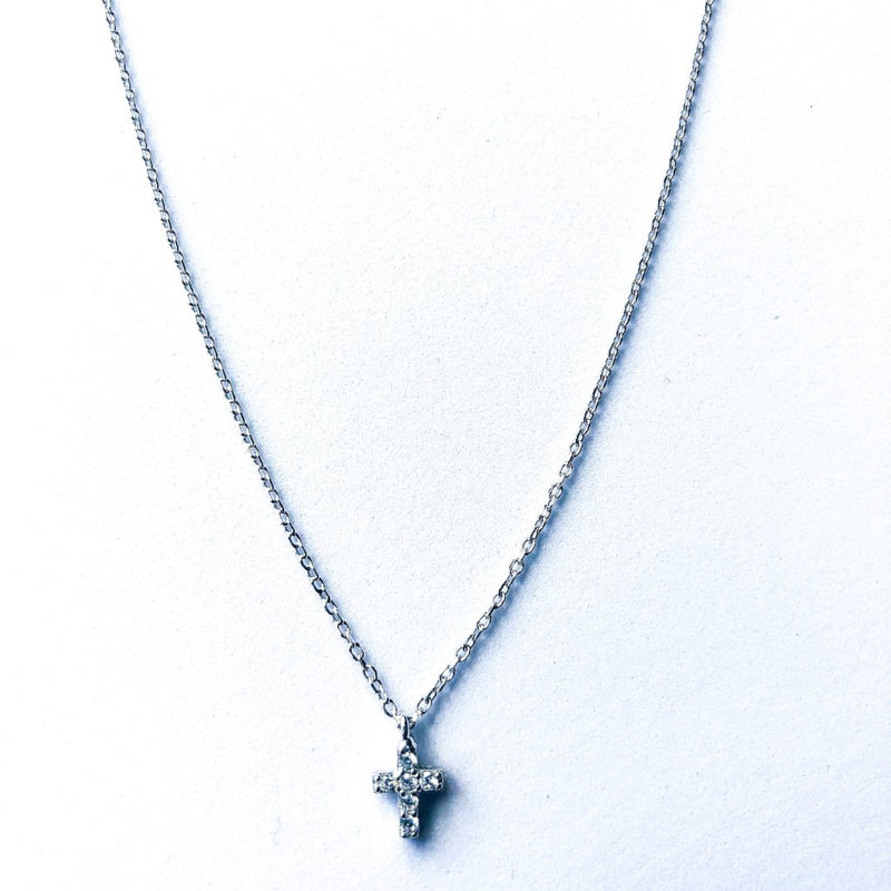 Small Cross Necklace - Silver