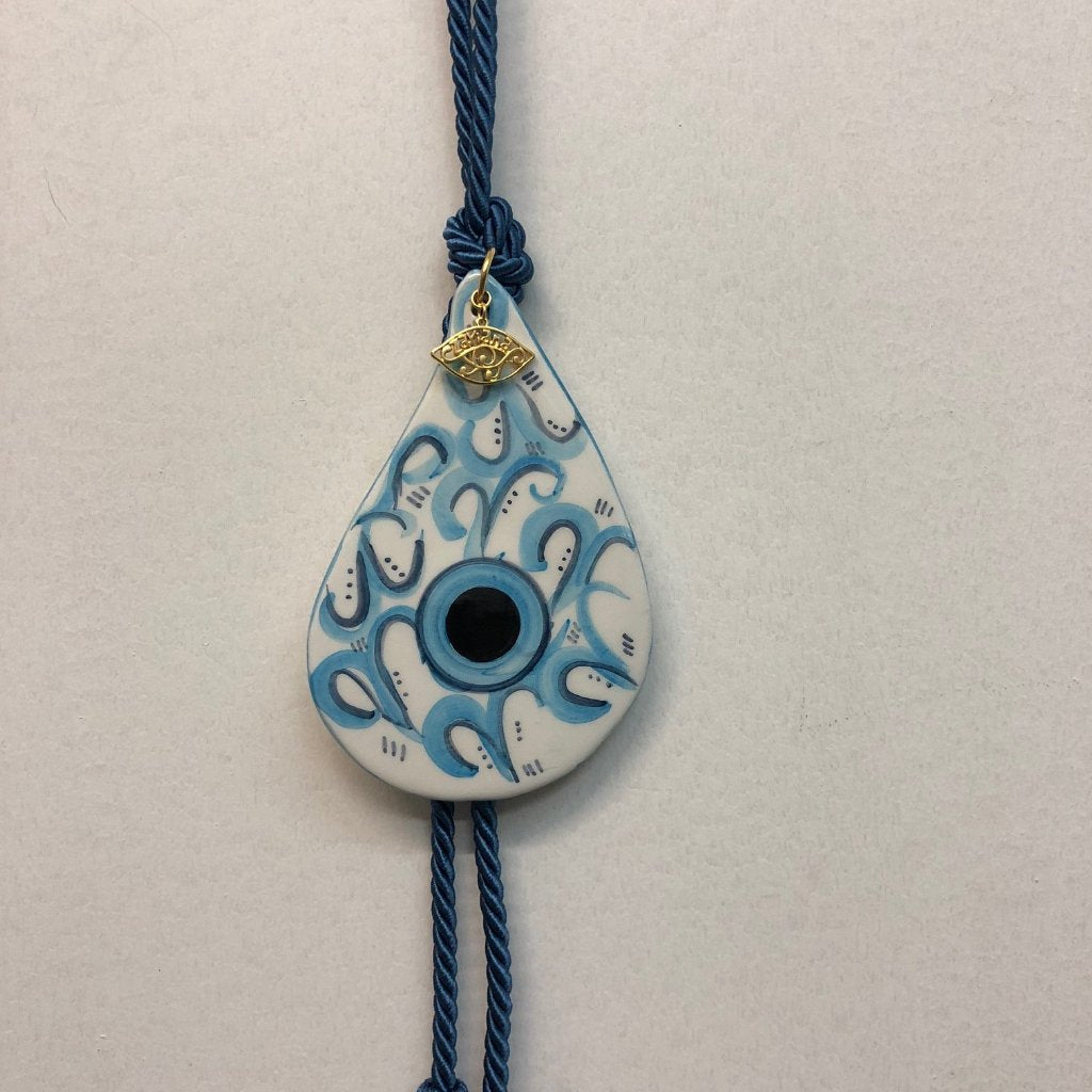 Tear Drop Eye Ceramic House Charm 12