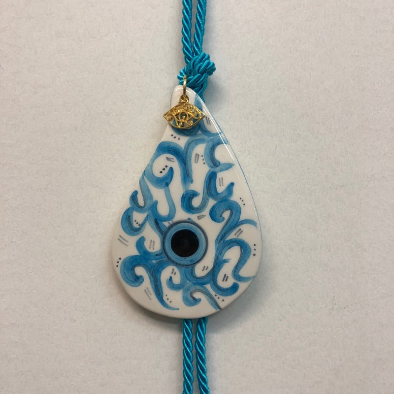 Tear Drop Eye Ceramic House Charm 13